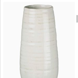 Sullivans Ceramic Vase, 11.5 x 5 Inches, White